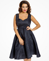 'Marcella' Navy Swing Dress and Jacket Twin Set