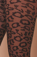 Leopard knit tights