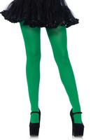 Nylon opaque pantyhose green