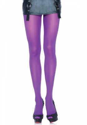 Nylon opaque pantyhose  purple